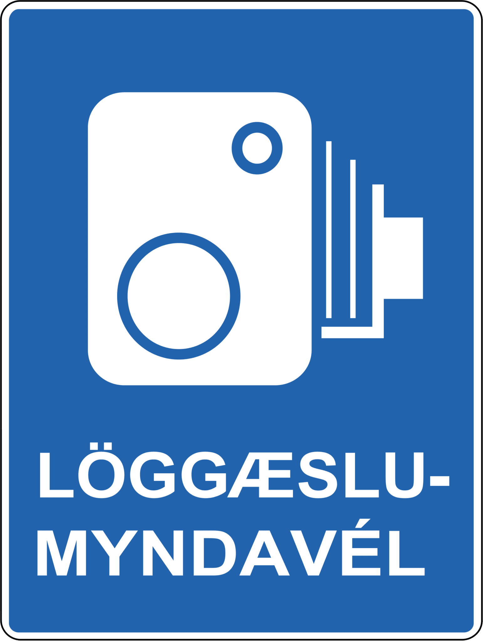 Iceland Speed Camera Road Sign