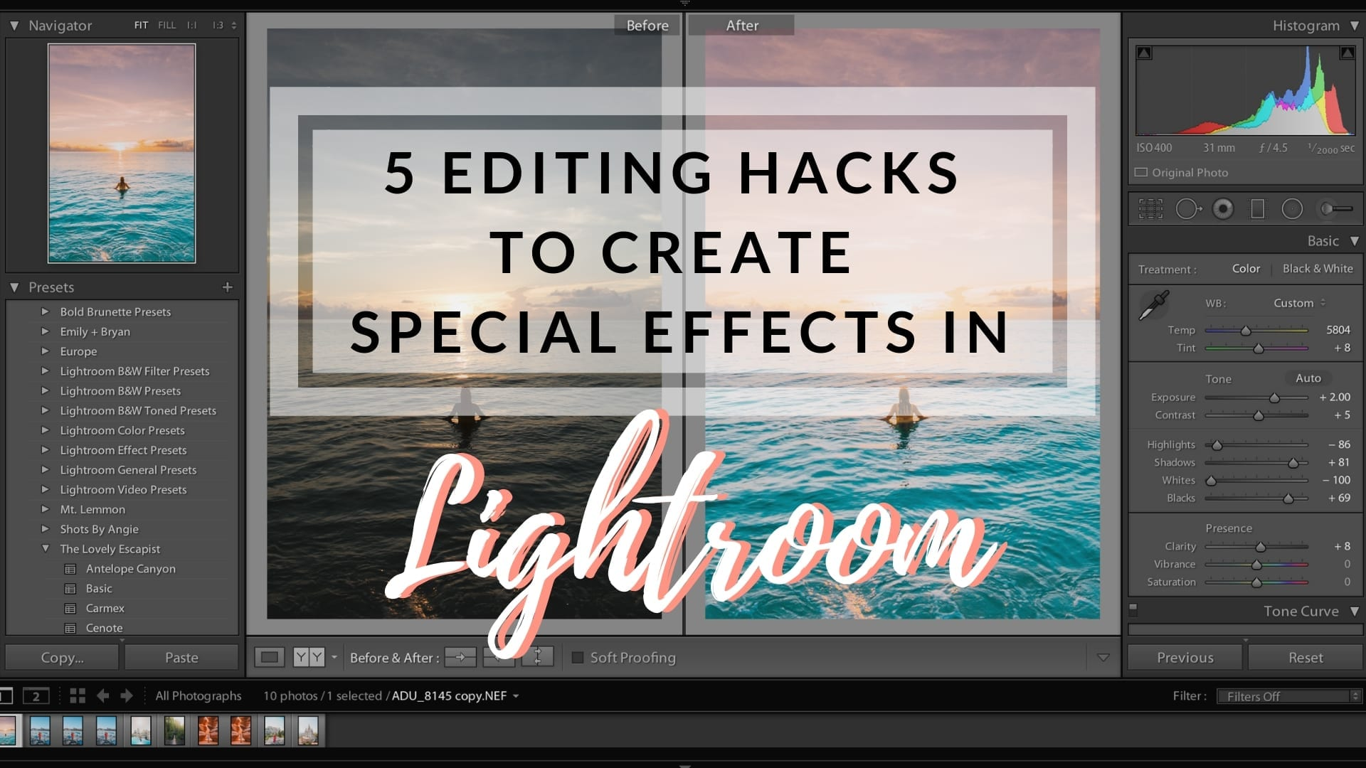 Special Effects in Lightroom
