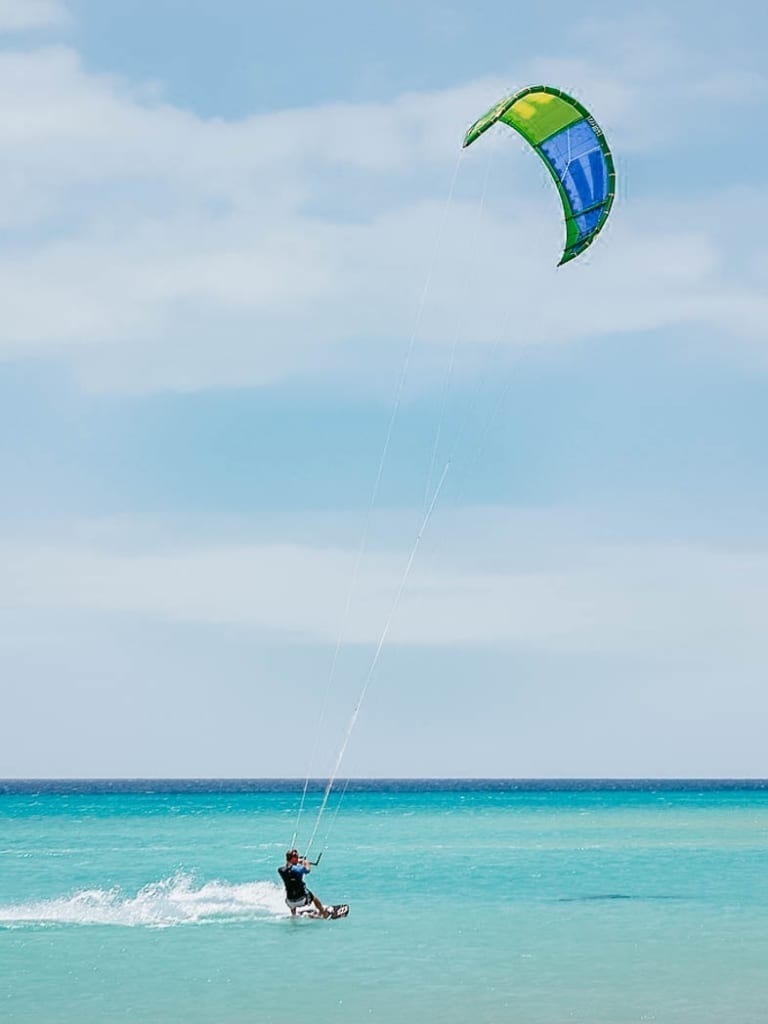 Turks and Caicos kite surfing