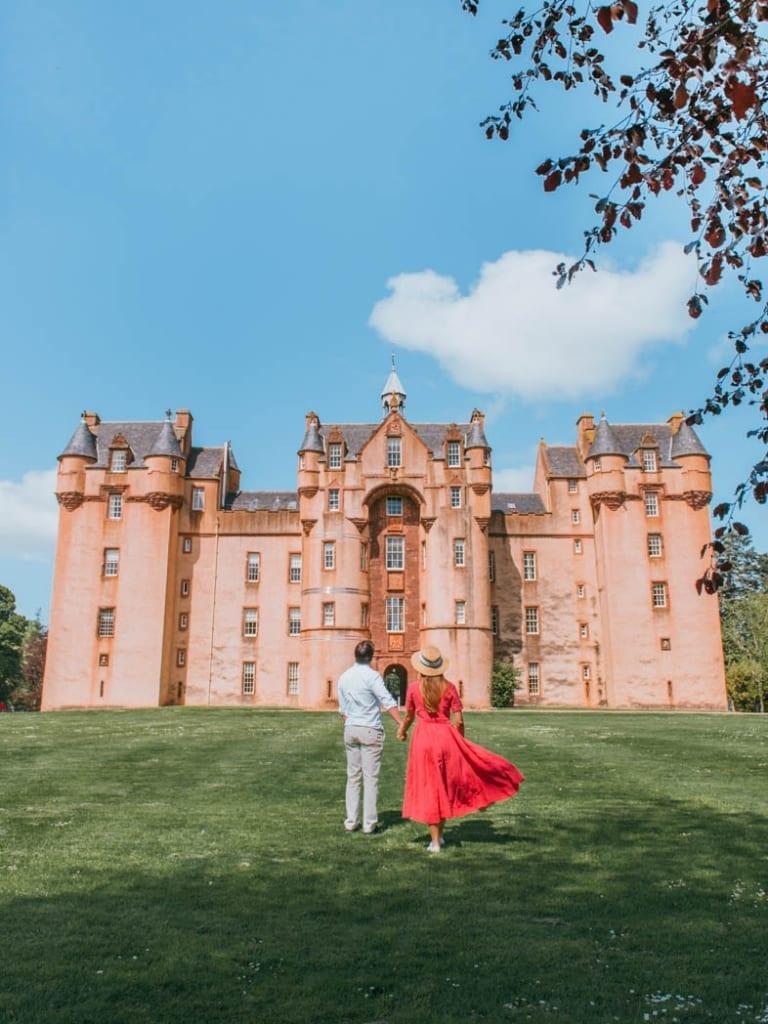 pink scotland castle